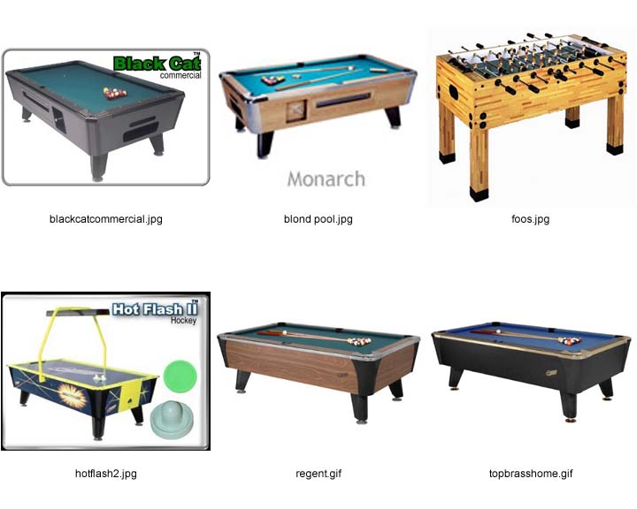 Pool Tables Fooz Ball Air Hockey Action Game Music Vending LTD - Regent pool table